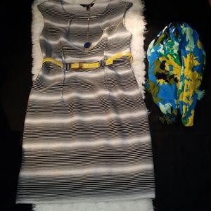 Mlle gabrielle black & white dress